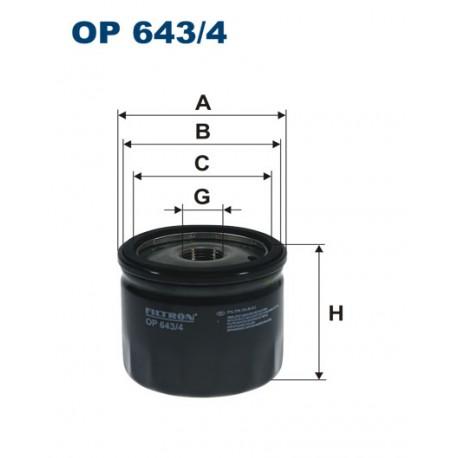 Filtr oleju OP 643/4