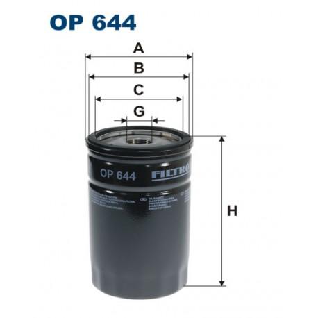 Filtr oleju OP 644