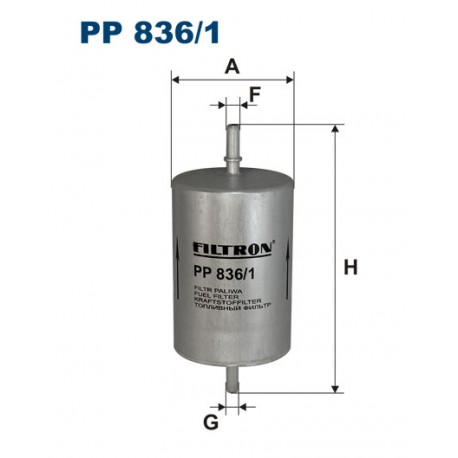 Filtr paliwa PP 836/1