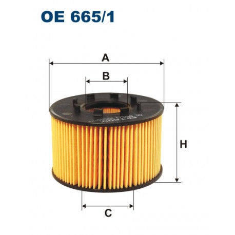Filtr oleju OE 665/1