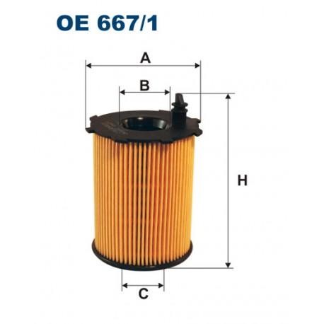Filtr oleju OE 667/1